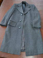 McGregor Clothes Montreal Canada Men's gray wool long winter coat handmade 38