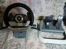 Microsoft Xbox 360 Wireless Steering Racing Wheel Force Feedback & Pedals Tested