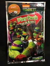 Teenage Mutant Ninja Turtles Play Pack Grab And Go Crayons, Stickers & Book New