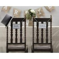 Vintage Mr Mrs Wooden Chair Hanging Signs Rustic Wedding Decorations Photo Props