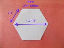 1000 EXTRA SMALL Hexagon Templates for Patchwork - Paper - NEW SIZE  3/4 inch