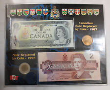 Collectible Canadian Mixed Dollar Set ~ Bills and Coins ~ Uncirculated