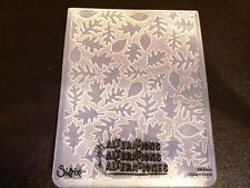 Sizzix Large 4.5x5.75in Embossing Folder LEAVES TIM HOLTZ LEAF fits Cuttlebug