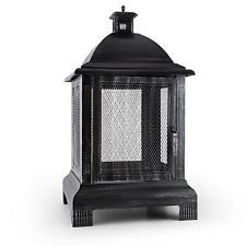 GARDEN FIREPLACE PIT LANTERN FIRE BASKET OUTDOOR HEATER WOOD CHARCOAL BURNER
