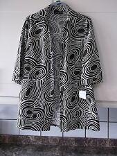 NEW LADIES SIZE 18 3/4 SLEEVED LONG SHIRT /JACKET LINEN EFFECT CREAM/BROWN