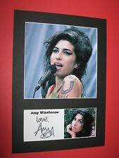 AMY WINEHOUSE A4 PHOTO MOUNT SIGNED REPRINT AUTOGRAPH BACK TO BLACK FRANK