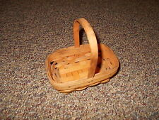 "1990 Longaberger  Handwoven & Signed 6 X 4"" Basket Made In Dresden OHIO U.S.A."