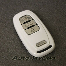 White Key Cover Audi Smart Remote Case Fob Shell Skin Bag Protector Hull 59gw