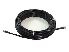 75' LMR-240/RG8X SUPER LOW LOSS COAX HAM-CB-2WAY 2 PL-259 F/S MADE IN US 3 YR W