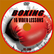BOXING COACHING WORKOUTS OVER 4 Hrs DETAILED TRAINING TUTORIAL PC VIDEO DVD NEW