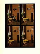 """1974 Vintage MAGRITTE """"MAN WITH NEWSPAPER, AU JOURNAL"""" COLOR offset Lithograph"""