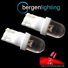2X W5W T10 501 XENON ROUGE DÔME LED HI LEVEL AMPOULE FEUX STOP HID HBL100101