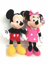 "DISNEY 10"" MICKEY MOUSE & MINNIE MOUSE COMBO PLUSH TOY-LICENSED STUFFED TOY"