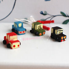Dollhouse Miniature 1:12 Kid Toy Very small Wooden Cars B1