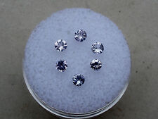 6 tanzanite round gems 3mm each