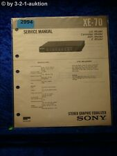 Sony Service Manual XE 70 Graphic Equalizer (#2994)