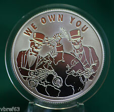 "2015 Silver Shield ""WE OWN YOU"" -  99.9% silver PROOF -#11 Pyramid of Power"