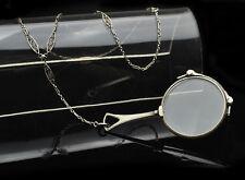 Vintage Sterling Silver Lorgnette eyeglasses w/Ornate Sterling Silver Chain