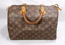 AUTHENTIC Louis Vuitton Monogram Speedy 30 Tote Bag Purse Shopper M41526 LV