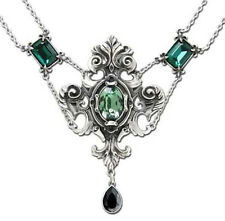Alchemy Gothic Queen of the Night Baroque Pewter Swarovski Crystal Necklace