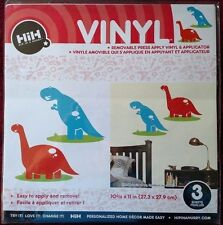hip in a hurry vinyl red and blue dinosaurs 10 3/4 X 11