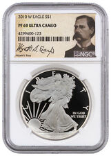 2010-W 1 Oz Proof American Silver Eagle NGC PF69 UC (Wyatt Earp Label) SKU37912