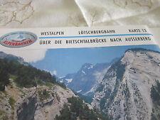Alpenbahnen Westalpen K 13 Lötschbergbahn Hohtenn Bietschtalbrücke Ausserberg