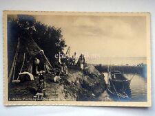 GRADO capanne pescatori Gorizia vecchia cartolina