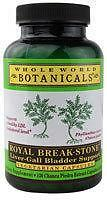 Whole World Botanicals, Royal Break-Stone, Liver-Gall Bladder Support 400 mg 120