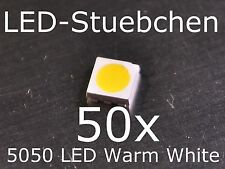50x 5050 Warmweiss SMD LED PLCC6 3-Chip Gurtabschnitt