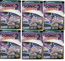 6 x Sonic The Hedgehog 2 Sega Game Gear Sealed Brand New!