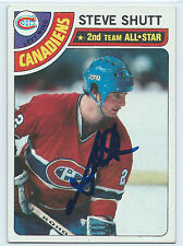 HOF Steve Shutt signed 1978-79 Montreal Canadiens hockey card autograph #170