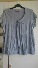 Women's size 26 grey Marl top with tie front detail from new look inspire range