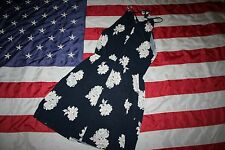 OLD NAVY Blue Floral Sun Dress Size Medium: shirt/retro/dressy/casual/top #4635