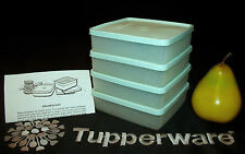 Tupperware COOL MINT 4 Square A Way Sandwich Keepers ~Wipes ~Snack ~Hobby ~Craft