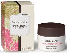 BareMinerals Renew & Hydrate Eye Cream 15ml With RareMinerals ActiveSoil Complex