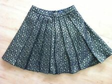 Ladies Black & Gold BARDOT Skirt Size 8 Flared Mini Shimmery Thick Pleated
