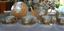 Vintage Hand Painted Japanese Tea Set. and Plates service for 4