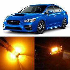 Alla Lighting Front Turn Signal Light 7440A Amber LED Bulb 12~17 Subaru Impreza