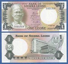 Sierra Leone 1 Leone P 5 e 1984 UNC Low Shipping! Combine FREE! ( P5e )