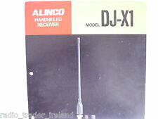 Alinco dj-x1 (Genuino folleto sólo)............ radio_trader_ireland.