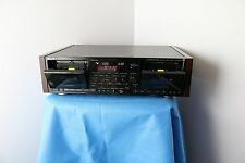 Sony TC-WR97ES Dual Stereo Cassette Tape Deck Wood Cabinet + Original Remote