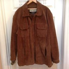 M.Julian Wilsons Men's 2XL Brown Leather Coat with Quilted Lining