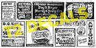 HO Scale ALL BLACK Ghost Sign Decals #3 - Great for Weathering Buildings!
