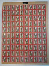 10 U.S. CHRISTMAS STAMP SHEETS - MINT - 1947-1956 - STUCK TO CARDBOARD - TUB EE