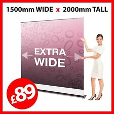 1500mm wide Pull Up Banner / Pop Up / Roller Exhibition Stand - Trade Show