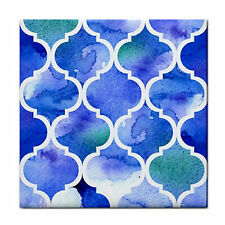 Blue Moroccan Feature Ceramic Wall Tile Coaster~Mosaic Craft~Home Patio Decor BN
