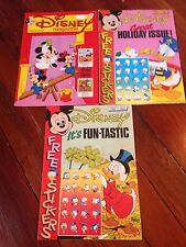 Disney Magazine #120 #121 #122 stickers Donald Duck Mickey Mouse Uncle Scrooge