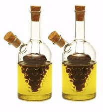 "NORPRO 792 Oil and Vinegar 5"" Glass Grape Cruets Set of 2"
