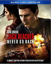 Jack Reacher: Never Go Back (Blu-ray + DVD + Digital) - NEW with slipcase